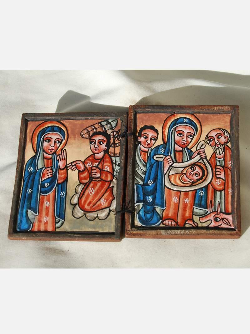thiopien ikone koptisch orthodox diptychon ethiopia. Black Bedroom Furniture Sets. Home Design Ideas